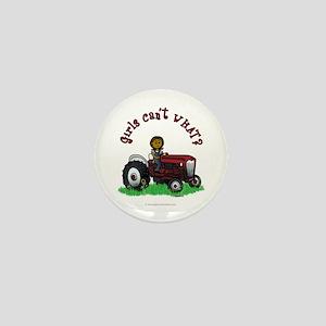 Dark Red Farmer Mini Button