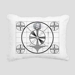 Test Pattern Rectangular Canvas Pillow