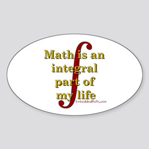 Math is integral Oval Sticker