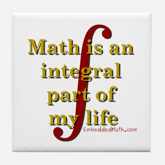 Math is integral Tile Coaster