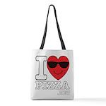 I LOVE PIZZA Polyester Tote Bag