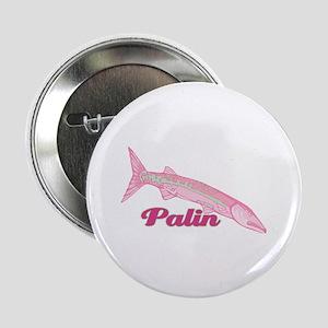 "Palin Pink Barracuda 2.25"" Button"