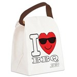 I Love BBQ Canvas Lunch Bag