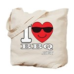 I Love BBQ Tote Bag