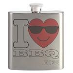 I Love BBQ Flask