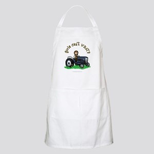 Light Blue Farmer BBQ Apron