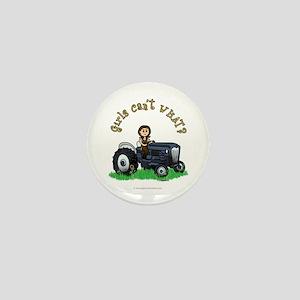 Light Blue Farmer Mini Button