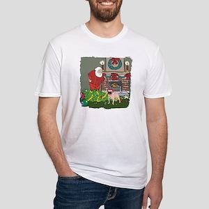 Santa's Helper Pug Fitted T-Shirt