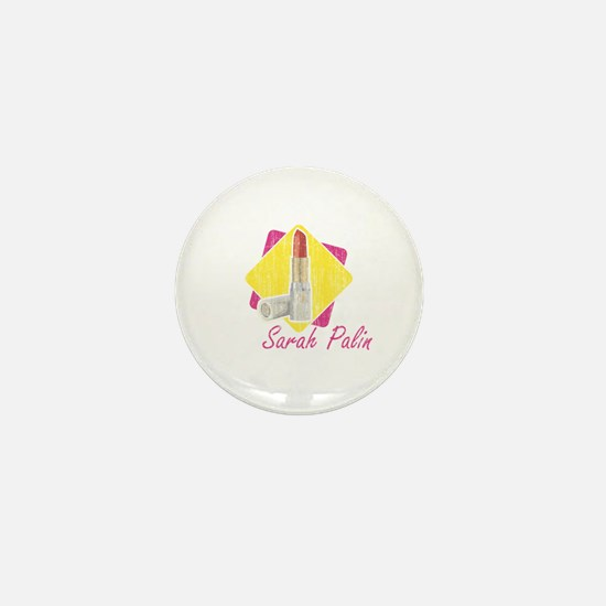 Sarah Palin Retro Lipstick Mini Button
