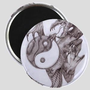 dragon ying yang Magnet