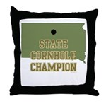 South Dakota State Cornhole C Throw Pillow