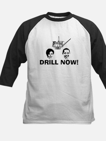 Drill Now Republican Oil Kids Baseball Jersey