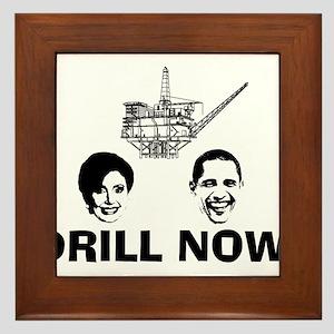 Drill Now Republican Oil Framed Tile