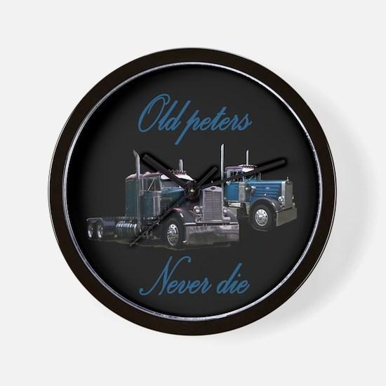Old Peter Never Die Wall Clock