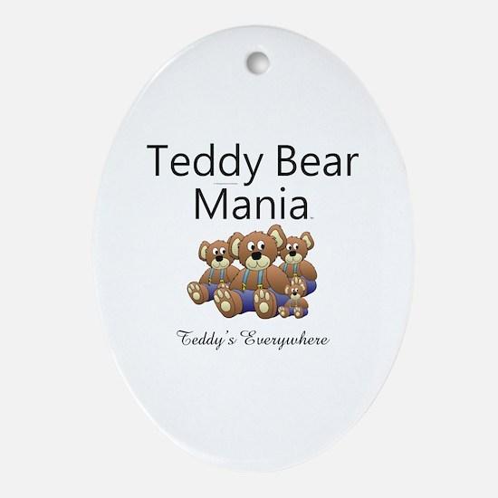 Teddy Bear Mania Ornament (Oval)