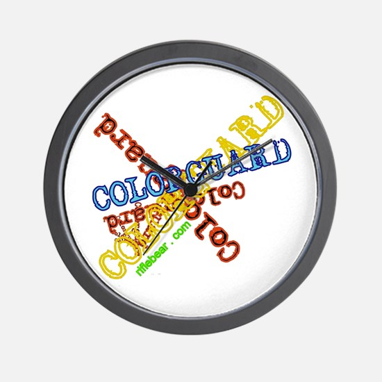 Spinning Colorguard Wall Clock