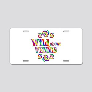 Wild About Tennis Aluminum License Plate