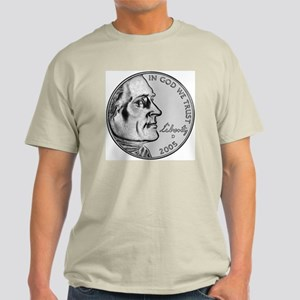 "American Bison Nickel ""D"" Light T-Shirt"