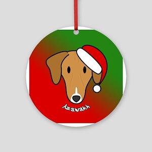 Cartoon Azawakh Christmas Ornament