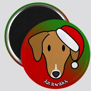 Cartoon Azawakh Christmas Magnet