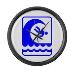 DANGEROUS SURF Large Wall Clock