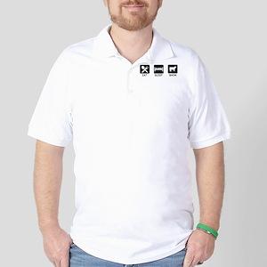 Eat, Sleep, Show (Steer) Golf Shirt