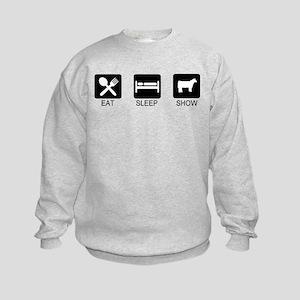 Eat, Sleep, Show (Steer) Kids Sweatshirt