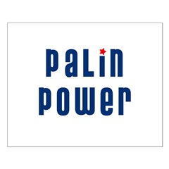 Palin Power blue font Posters