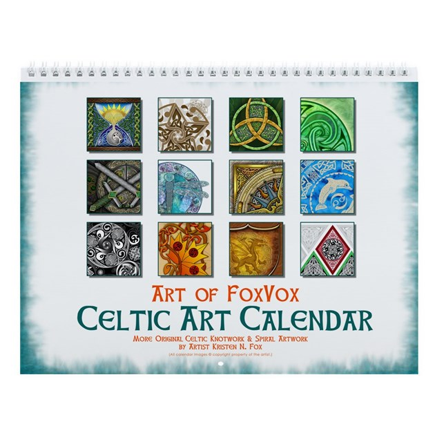 Papaya Art Calendar Uk : Celtic art wall calendar by artoffoxvox