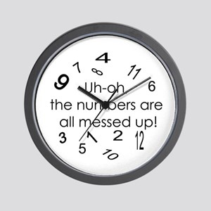 Messed Up Numbers Wall Clock