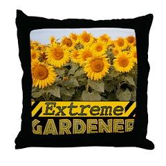 Extreme Gardener Throw Pillow