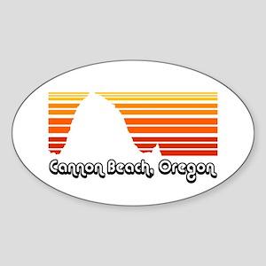 Cannon Beach Oval Sticker