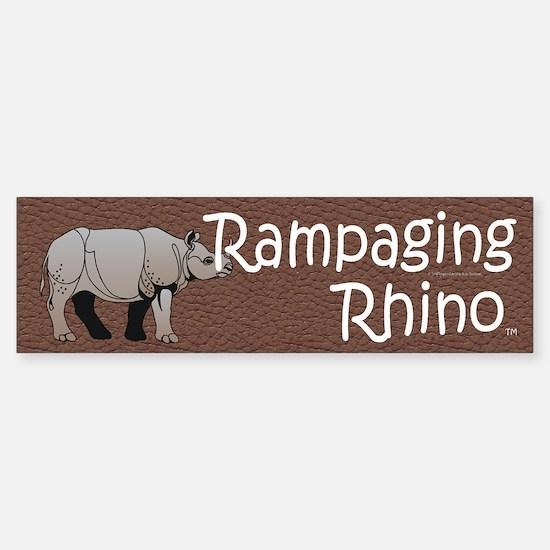 Rampaging Rhino Sticker (Bumper)