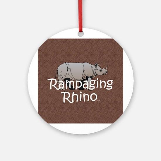 Rampaging Rhino Ornament (Round)