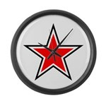 RED STAR Large Wall Clock