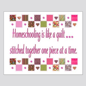 Homeschool Quilt Pieces Small Poster