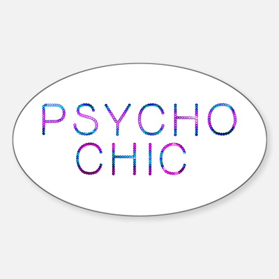 Psycho Chic Oval Decal