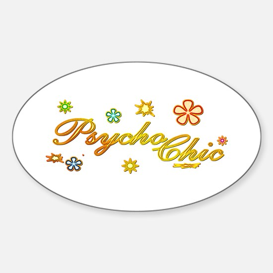 60's Psycho Chic Oval Decal