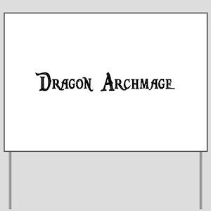 Dragon Archmage Yard Sign