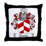 Graziani Family Crest Throw Pillow