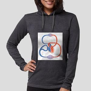 Cardiovascular system, artwork Long Sleeve T-Shirt