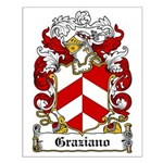Graziano Family Crest Small Poster