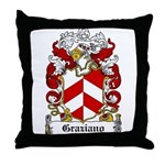 Graziano Family Crest Throw Pillow