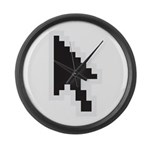 ARROW POINTER CURSOR Large Wall Clock