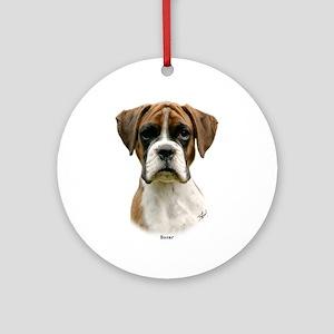Boxer puppy 9Y049D-044 Ornament (Round)
