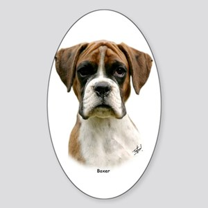 Boxer puppy 9Y049D-044 Sticker (Oval)