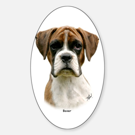 Boxer puppy 9Y049D-044 Sticker (Oval)