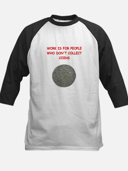 coin collector Kids Baseball Jersey