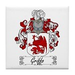 Griffo Family Crest Tile Coaster