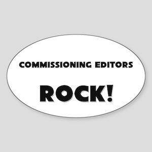 Commissioning Editors ROCK Oval Sticker